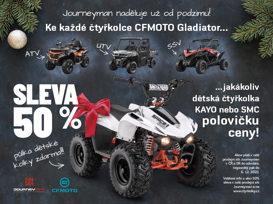 AKCE DĚTSKÉ ČTYŘKOLKY ZA 50% !!!